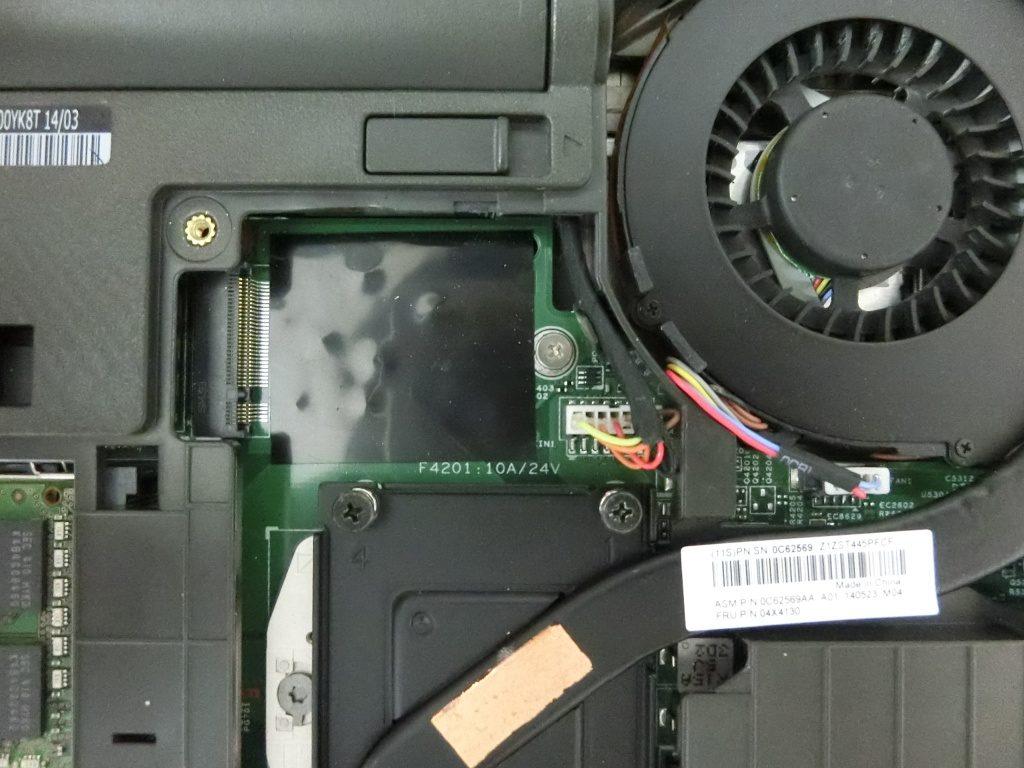 SSD内蔵場所